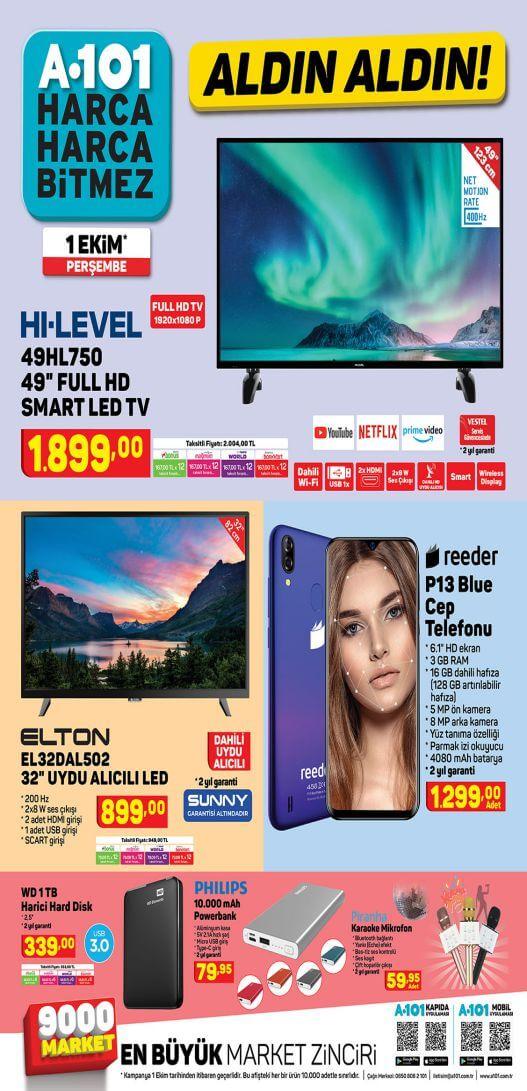 A101 1 Ekim 2020 Aktüel Ürünler 1.Sayfa