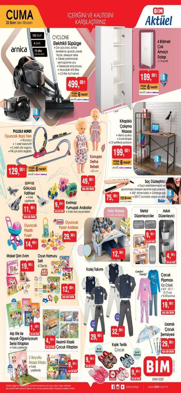 Bim 23 Ekim 2020 Aktüel Ürünler Kataloğu 1.Sayfa