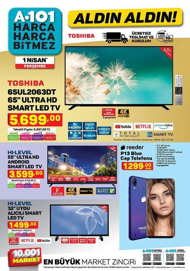 A101 1 Nisan 2021 Aktüel Ürünler Kataloğu - 1.Sayfa