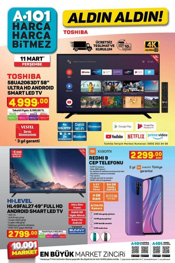A101 11 Mart 2021 Aktüel Ürünler Kataloğu - 1.Sayfa
