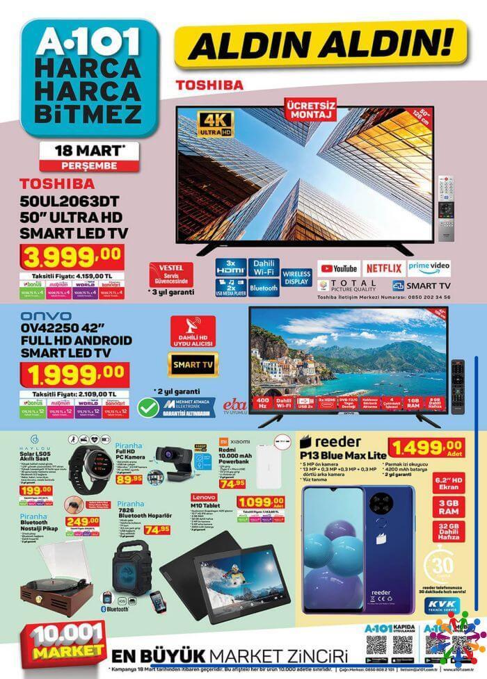 A101 18 Mart 2021 Aktüel Ürünler Kataloğu - 1.Sayfa