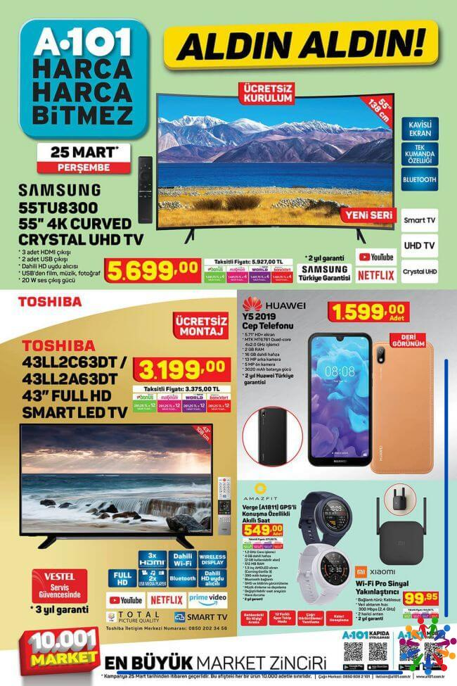 A101 25 Mart 2021 Aktüel Ürünler Kataloğu - 1.Sayfa