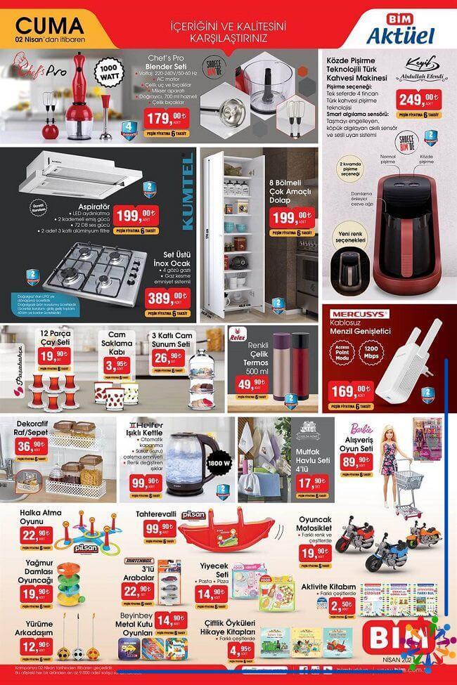 Bim 2 Nisan 2021 Aktüel Ürünler Kataloğu - 1.Sayfa