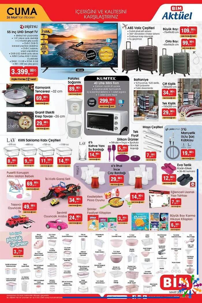 Bim 26 Mart 2021 Aktüel Ürünler Kataloğu - 1.Sayfa