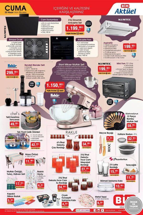 Bim 30 Nisan 2021 Aktüel Ürünler Kataloğu - 2.Sayfa
